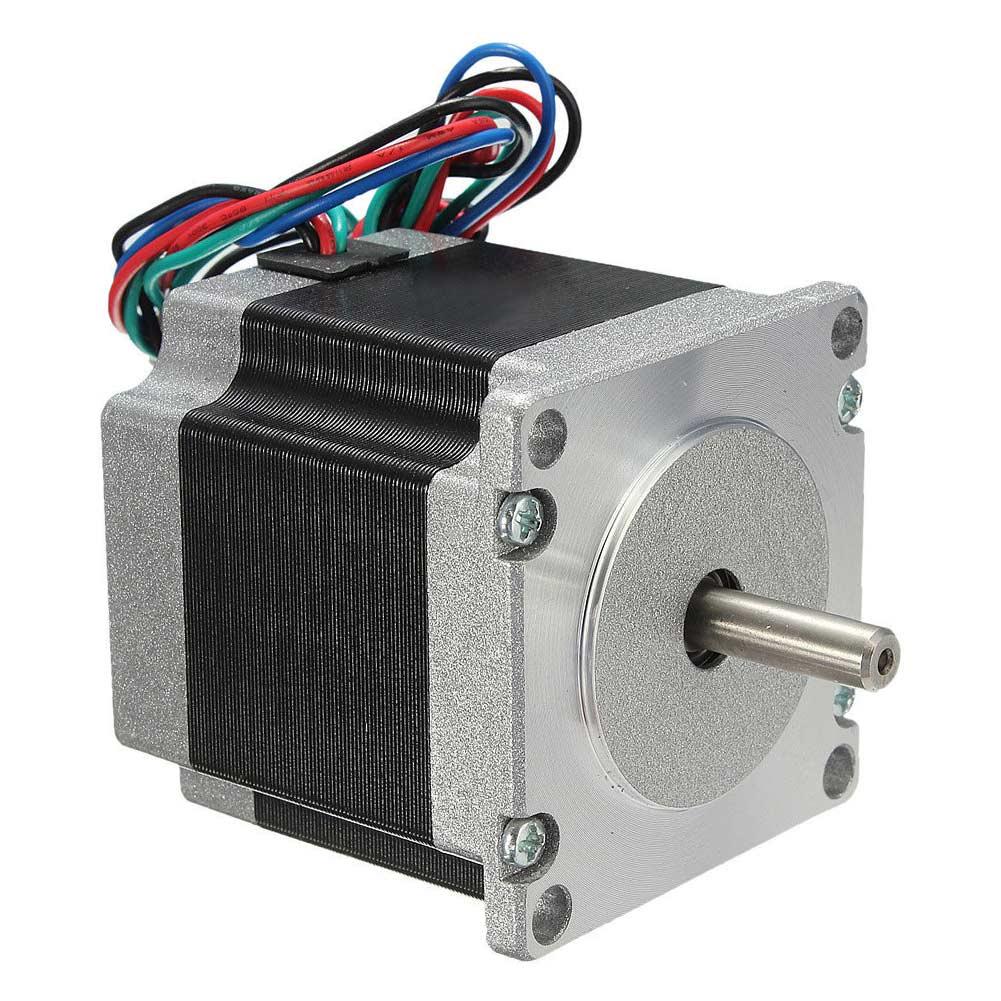 1pc 56mm 24V 2 Phase 4 Wire 3D printer Nema23 Stepper Motor 1.8 Degree For CNC medical machine 57 stepper motor 57bygh112 2 phase 4 wire nema 23 for 3d printer high torque engraving machine cecnc laser stepper motor