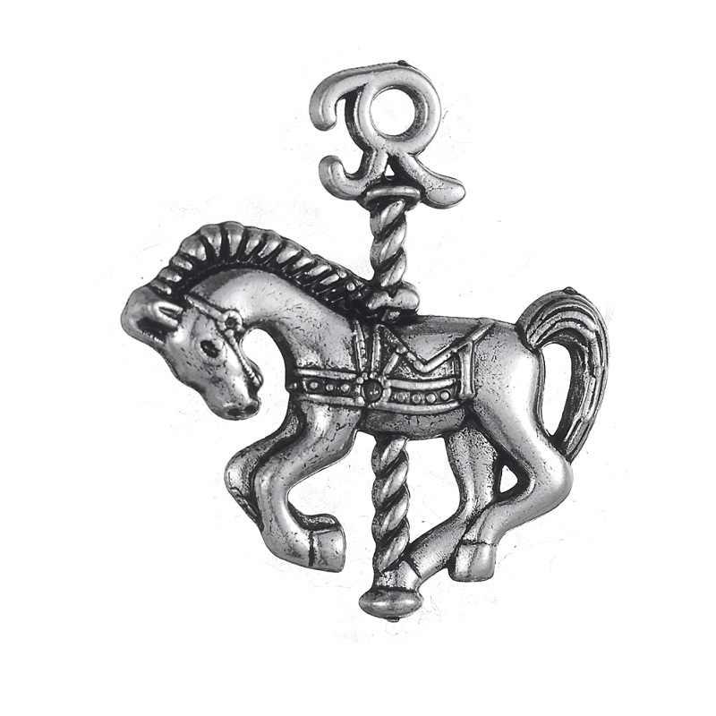 Skyrim романтическая карусель для парка аттракционов амулеты польская Лошадь Подвески DIY животные ювелирные изделия Аксессуары для ожерелья и браслета 20 шт