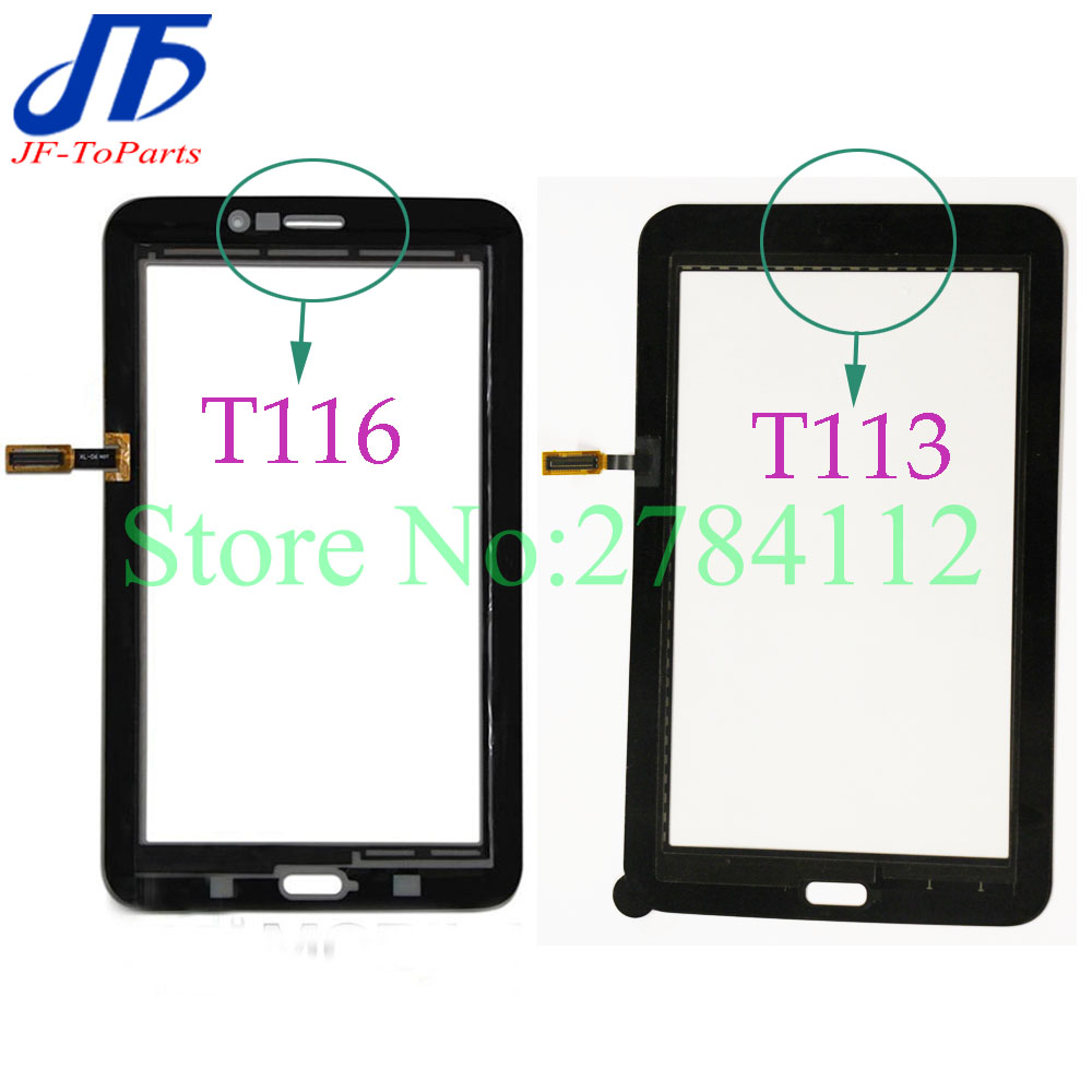 10Pcs T116 T113 touch panel replacement for Samsung Galaxy Tab 3 Lite SM T113 T116 Touch