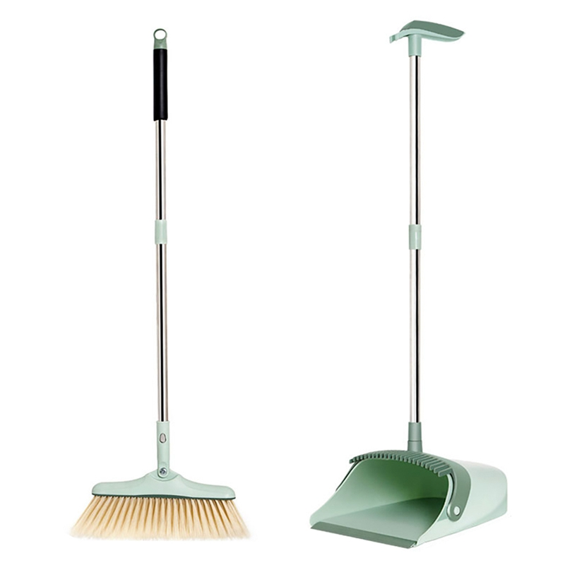 Home Broom And Dustpan Floor Cleaner Tools Plastic Windproof Household Dustpan Creative Foldable Storage Soft Easy Clean