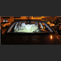 10 pcs canbus white LED light Interior kit package for Audi A6 S6 C6 sedan 2005 -2011 Car Styling