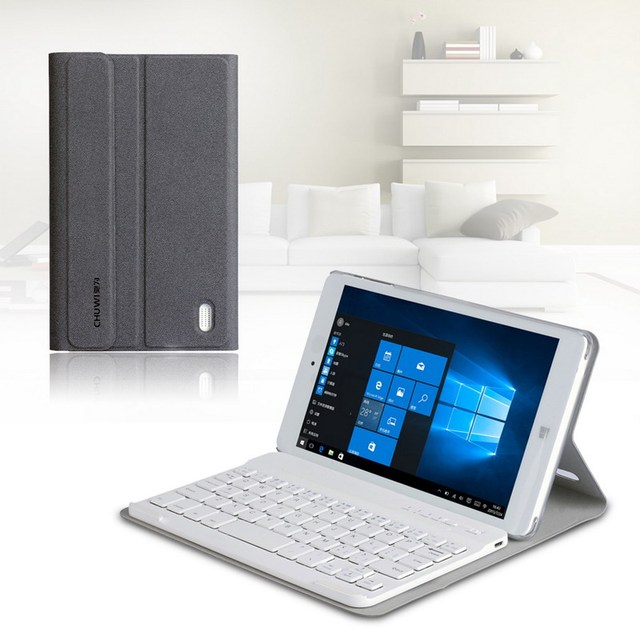 Removable Bluetooth Keyboard with Protective PU Leather Folio Cover Case Tablet Keyboard for CHUWI HI8 8 Inch Tablet PC