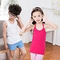 2-8 Anos Crianças Bebê Colete Menino Verão Tops Vest Crianças Meninas do Verão T-shirt Sem Mangas de Algodão Meninas Camisoles Mundo de Tanque