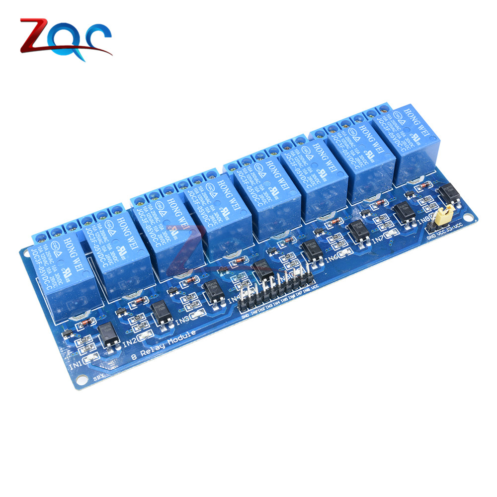 DC 5V 8-Channel Relay Module Board for Arduino Optocoupler 8 Channel Relay Smart Home Switch Max 10A AC 250V/DC 30V стоимость