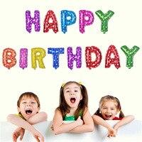 13pcs 18 Lovely Foil Heliun Letter Cartoon Balloon Kids Globos Happy Birthday Party Decorations Ballons