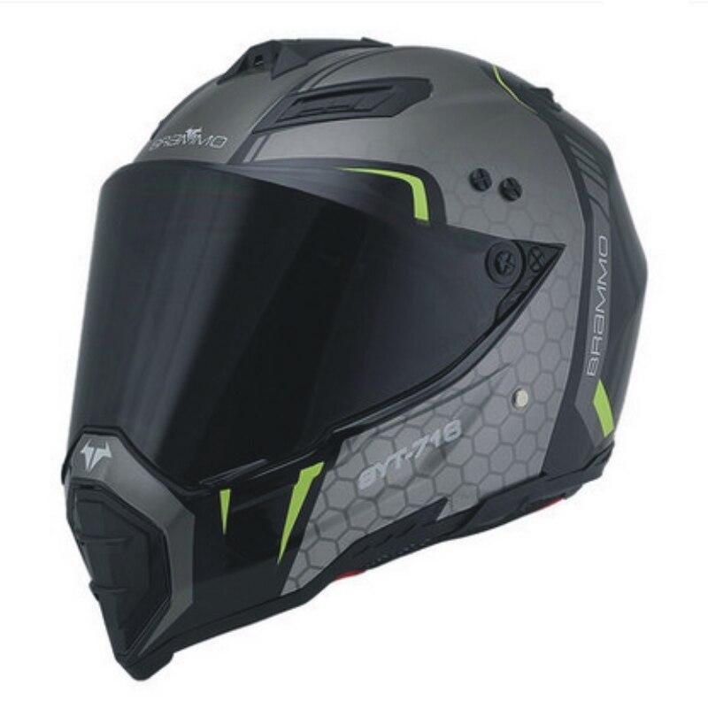 Бесплатная доставка мотокросса внедорожный мотоциклетный шлем Мужская Личность полный лицо локомотив тянуть четыре шоссе защитный шлем