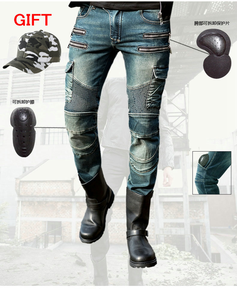 Fashion straight uglybros MOTORPOOL UBS11 jeans blue men's motorcycle trousers protection motorcycle jeans trousers 2017 new designer korea men s jeans slim fit classic denim jeans pants straight trousers leg blue big size 30 34