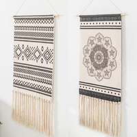 Art Macrame Tapestry Wall Hanging Boho Chic Bohemian Room Geometric Tapestry Apartment Dorm Room Hanging Decoration