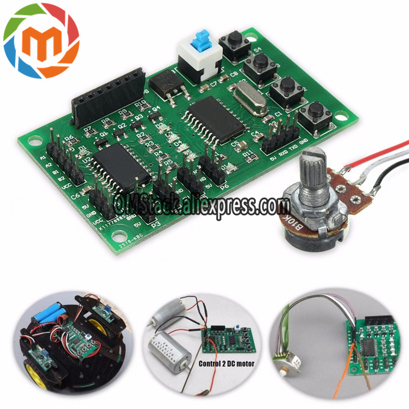 Programmable 2//4 Phase 4//5 Wire Stepper Motor Driver Control Board DIY Robot Car