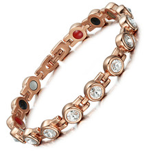 Jewelry Zircon Bracelet New Product Listed Stainless Steel Health Womens