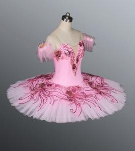 Image 5 - Real azul pájaro YAGP profesional Ballet Competiton tutú Falda Mujer Rosa clásico panqueque tutú vestido de disfraz