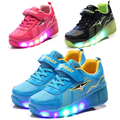 Glowing Luminous Sneakers tenis led infantil led shoes kids light up boy &girl shoes wheelie shoes sneakers with wheels