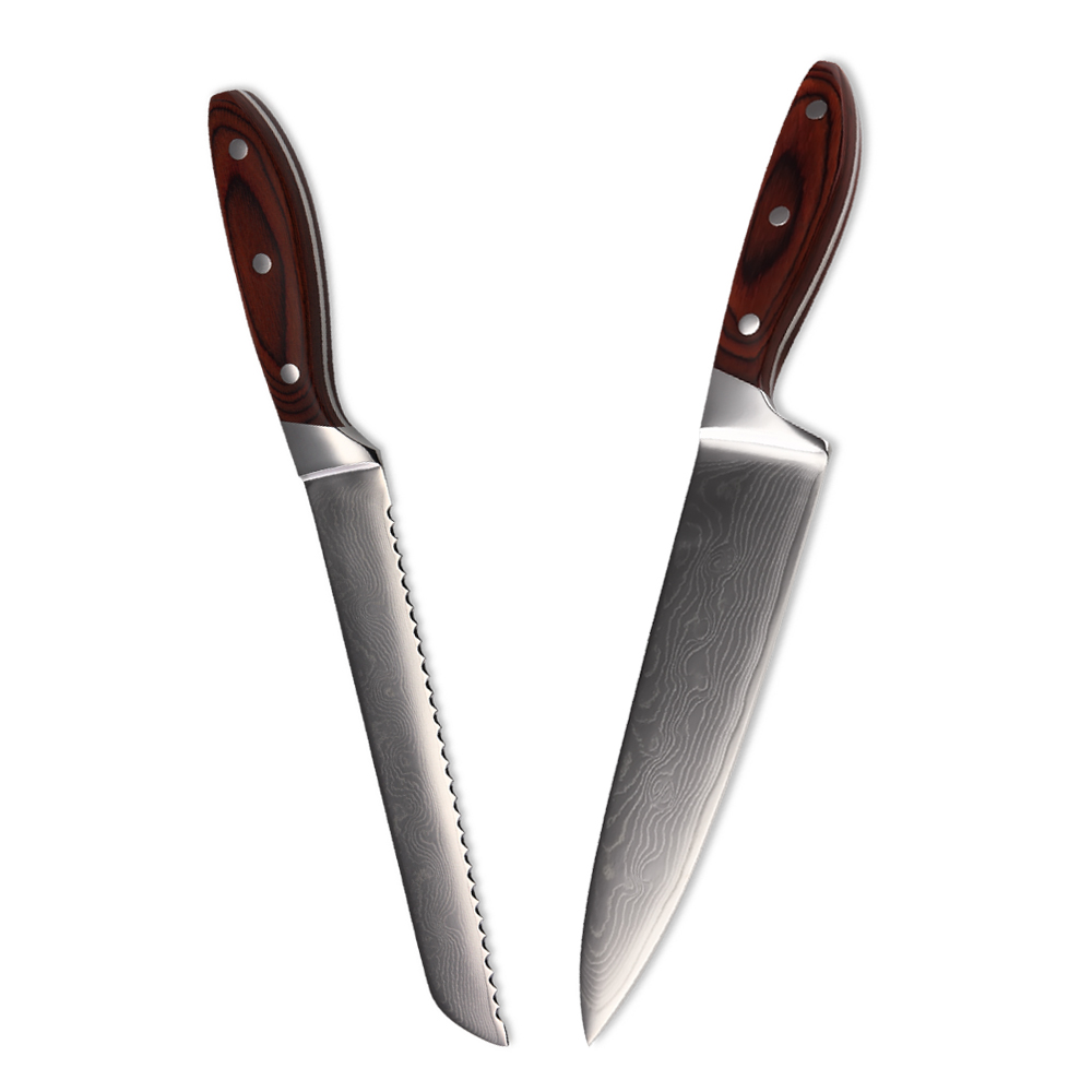 best kitchen knives best kitchen knife set 8 inch chef bread damascus knife
