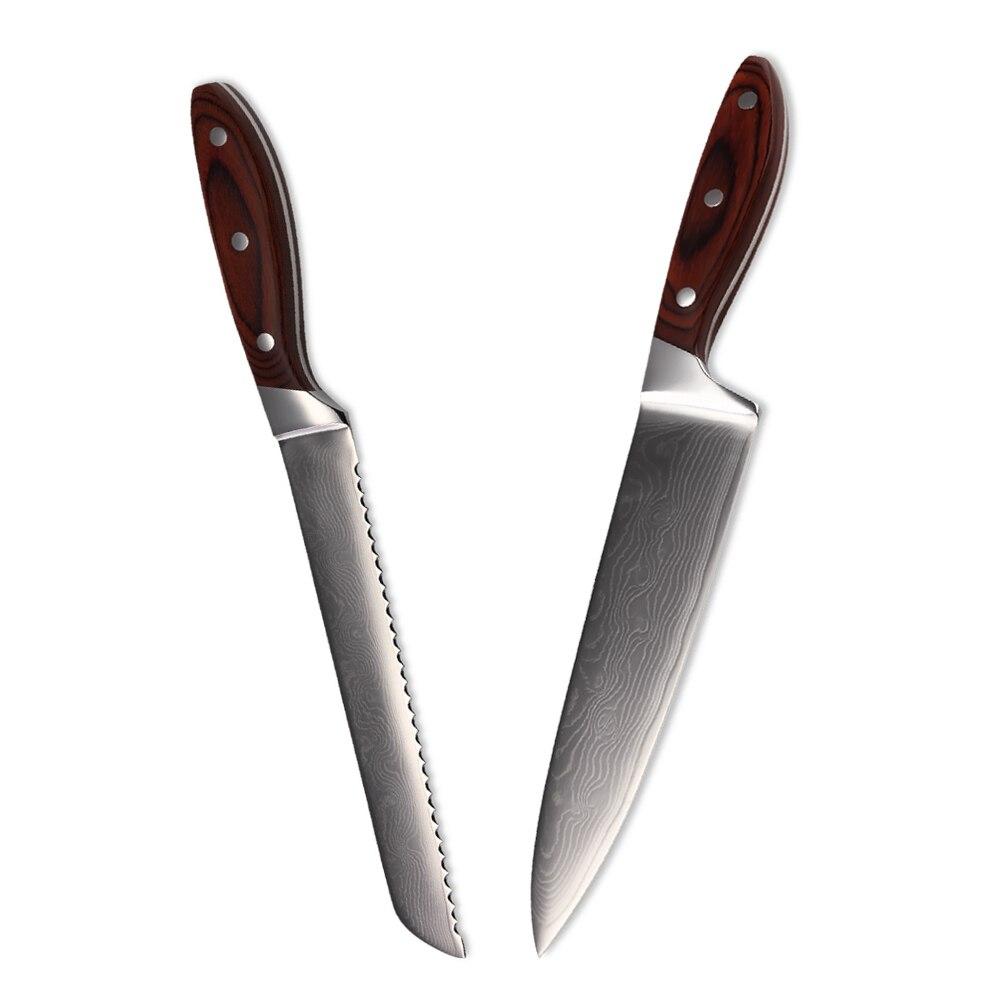 miglior coltello da cucina set 8 pollice chef pane damasco coltello alta grade 67 strati di