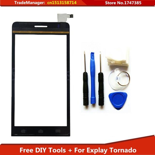 """Ferramentas de nova tela de toque Original digitador 4.5 """" Explay Smartphone Touchscreen de vidro painel Sensor frete grátis"""