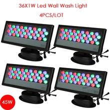 4pcs/Lot Free Shipping 36pcs 1w LED Wallwash Light, Landscape light ,led wall washer outdoor ,Warm white/White/RGB Color