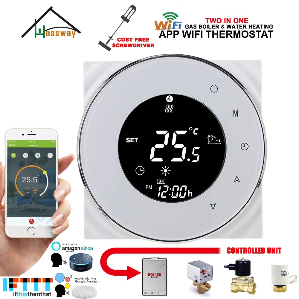 95 240VAC 3A Multifunction Passive connection,Water valve,Electric actuator Gas boiler thermostat wifi for dry contact relay