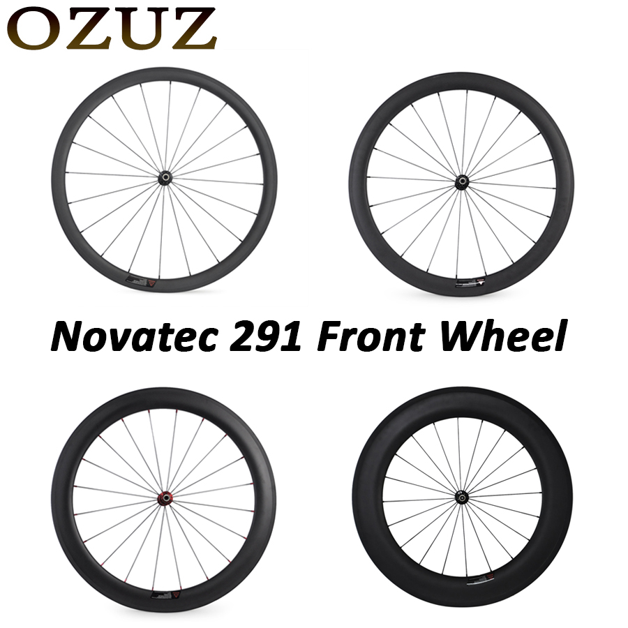 Novatec 291 OZUZ 700C 24mm 38mm 50mm 60mm 88mm Clincher Tubular Road Bike Bicycle Light Carbon Wheels Racing Only Front Wheel купить