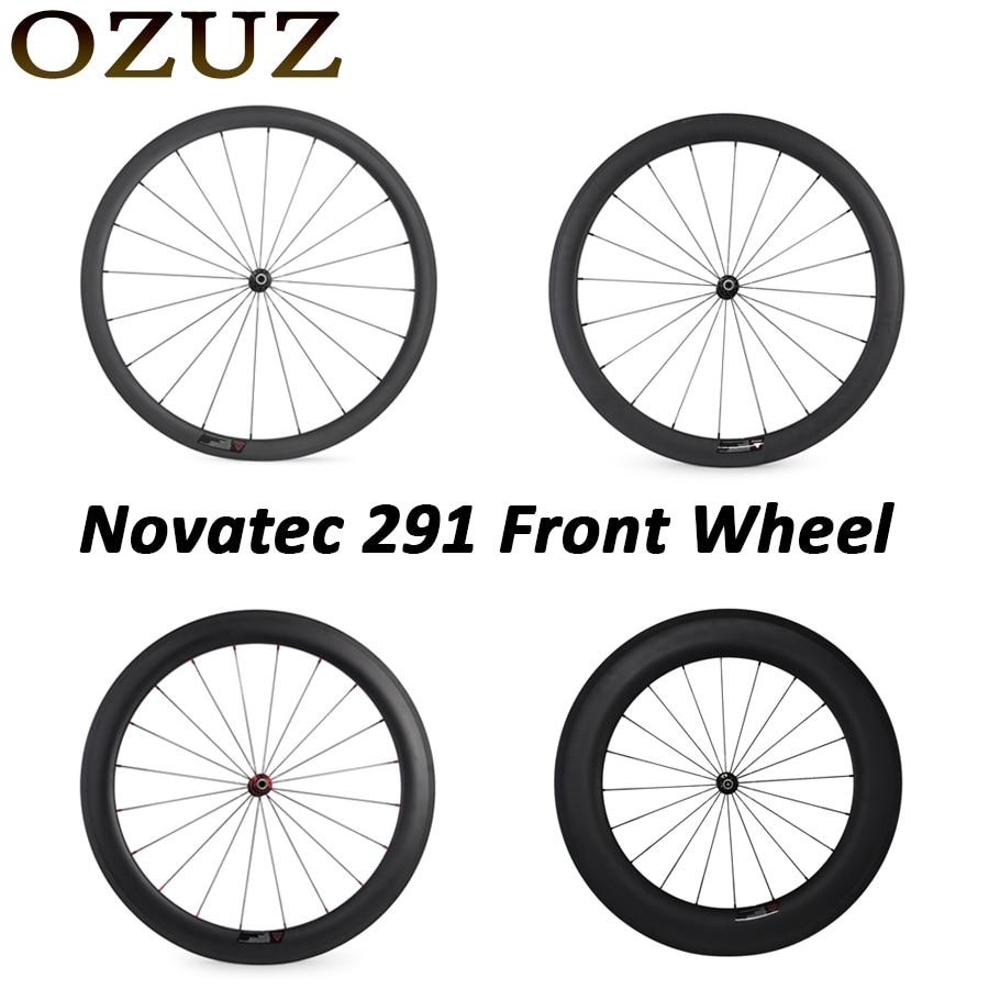 Novatec 291 OZUZ 700C 24mm 38mm 50mm 60mm 88mm Clincher Tubular Road Bike Bicycle Light Carbon Wheels Racing Only Front Wheel окружающий мир 2 класс рабочая тетрадь к учебнику а а плешакова часть 1 фгос