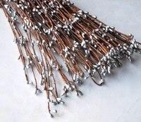 جديد وصول 50/100 ينبع الفضة نقطة التوت سلك diy اليدوية زهرة تاج إكليل أمر خاص لطيف