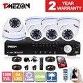 Tmezon 8ch 1200tvl cctv home security sistema de vigilância 4 pcs ir night vision dome ao ar livre à prova d' água câmera 1 tb 2 tb kit hd