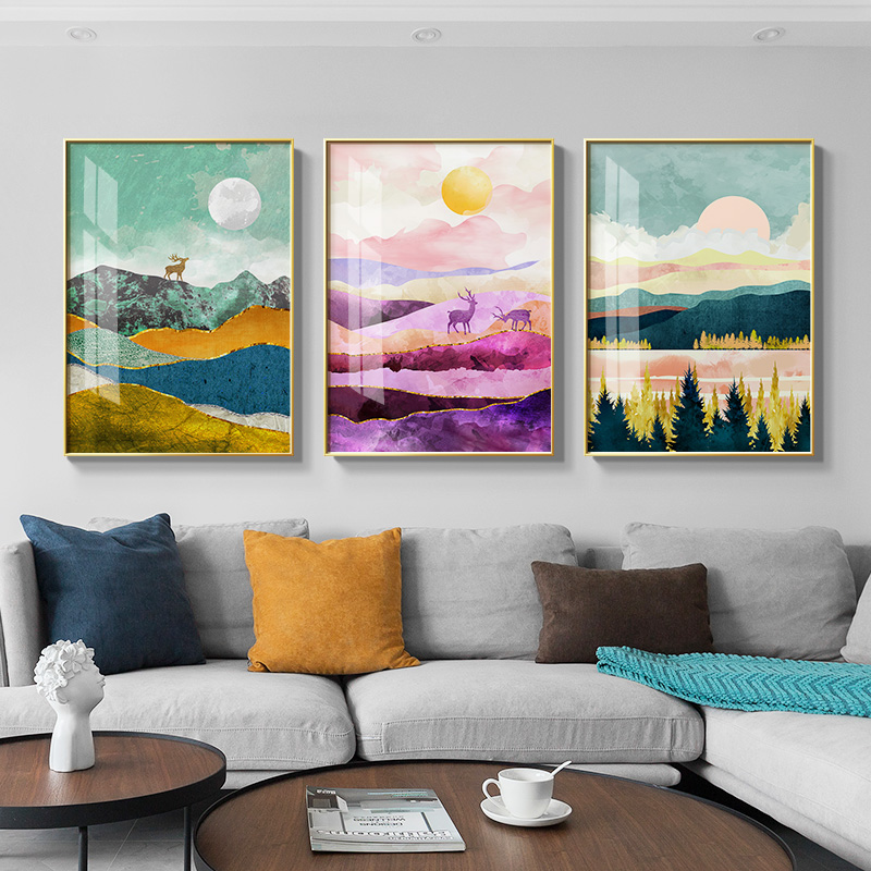 Nordic Landscape Sunrise Sunset Canvas Painting Posters And Print Wall Art Pictures For Living Room Bedroom Aisle Unique Decor