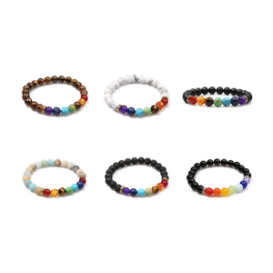 Image 5 - OAIITE 7 Chakra Yoga Bracelet Healing Heart Therapy Bracelet Women Men Natural Stone Bead Jewelry Chakra Prayer Balance Bracelet
