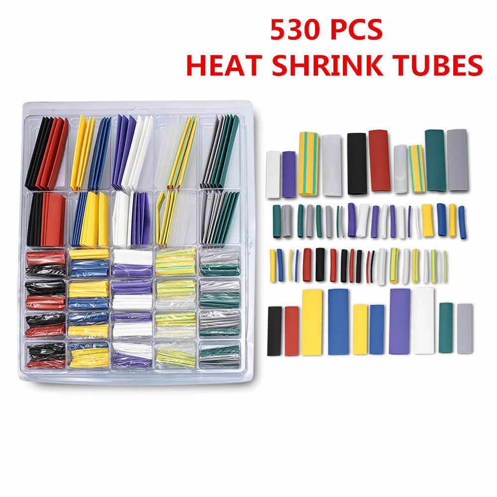 500 ชิ้นลวด Cable Sleeving Wrap ไฟฟ้าอุปกรณ์ 10 สี