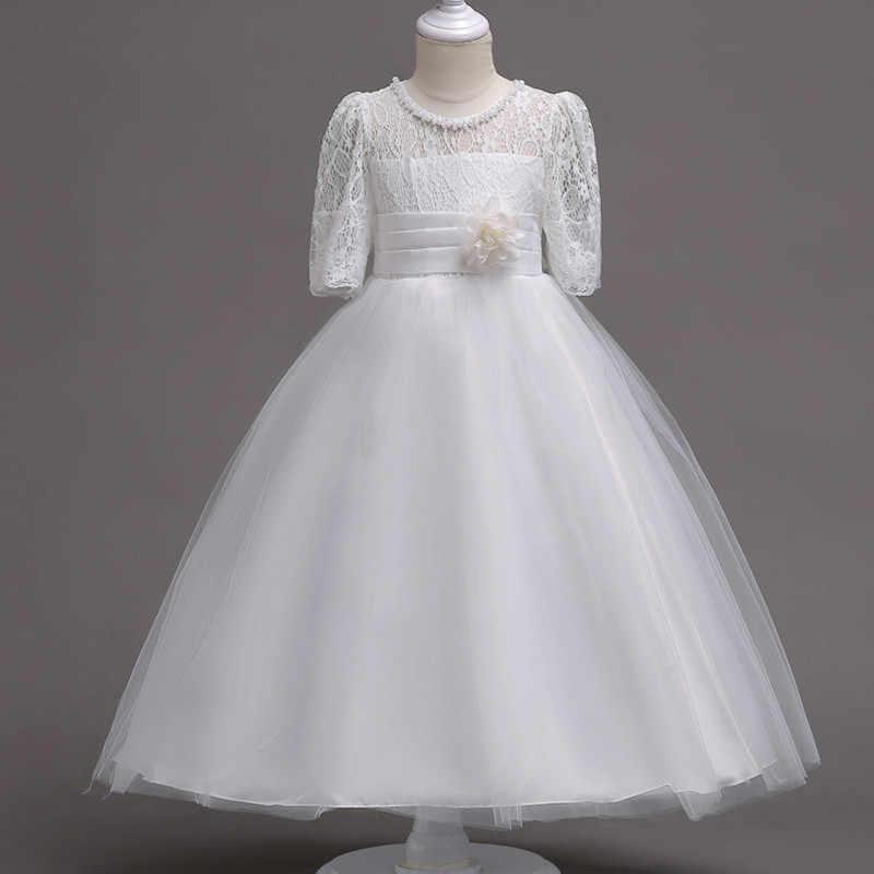 bb660c0bd8e8 ... 2018 Baby Girls Clothes Summer Wedding Dress Kids Dresses For Girls  Children Clothing Elegant Floral Princess ...