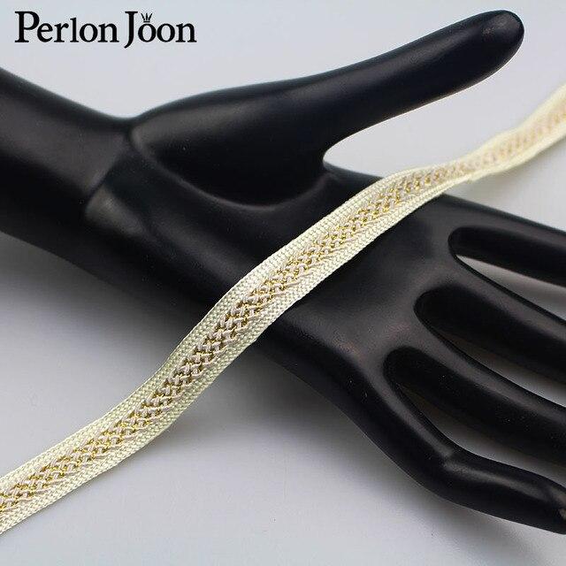 Sac pour vêtements en polyester noir doré | 1 cour 1.2cm, nouveau sac pour vêtements, chaussures avec ruban décoratif tissé, accessoires décoratifs ZD001