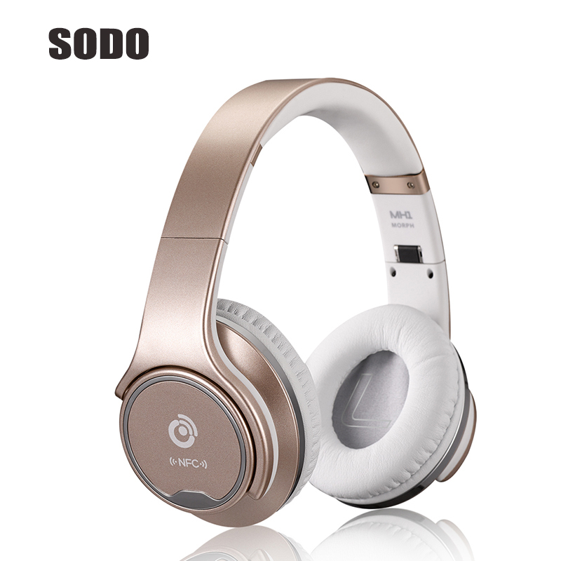 Foldable 2 in 1 Bluetooth Speaker Wireless headphone Portable Super Bass Big Earphone For iPhone Xiami Sumsung Computer Notebook 2 in 1 wireless bluetooth earphone