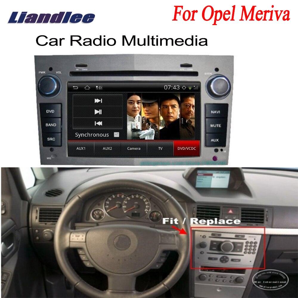 Liandlee For Opel Meriva 2006~2010 2 din Car GPS Android Radio Navi Navigation Maps DVD player HD Screen OBD2 Camera TV