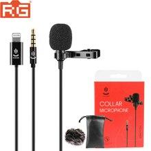 YC LM10 Mini taşınabilir mikrofon kondenser Clip on yaka yaka mikrofon kablolu Mikrofo/Microfon için iPhone X 8 7 canon Nikon
