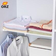 ORZ מלתחה Tshirts מגירה ארגונית מחלק מדף ארון ארון ארון מתכוונן מפריד מתלה