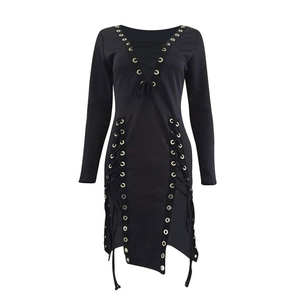 487a4940469 Rosetic женское черное платье сексуальное с v-образным вырезом летнее  vestidos Verano готическое кружевное платье