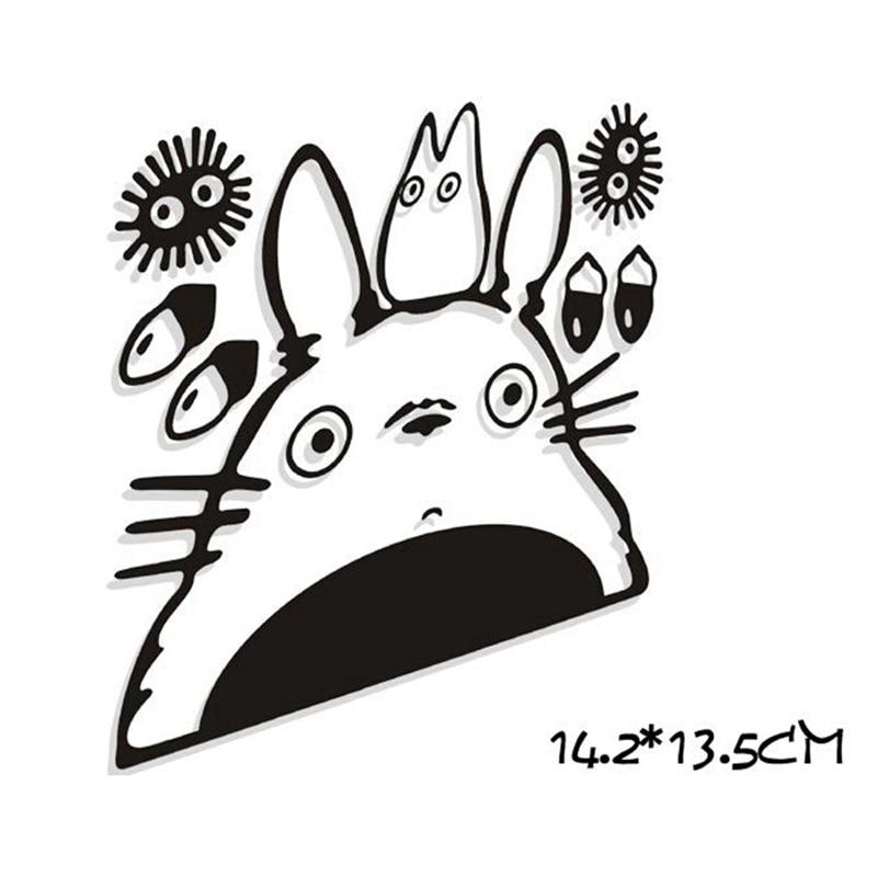 Cute Totoro Wall Decals Japanese Cartoon Inspired Totoro Vinyl Wall Sticker For Macbook Air/ Laptop / Car Window Decoration
