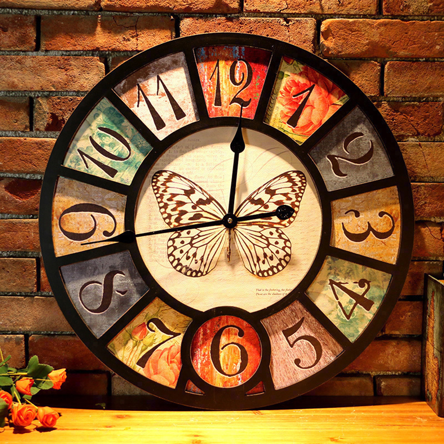 Creative Vintage Industrial Wall Clock Bar Living Room Decoration Cafe Display Temp Calendar Time Projection for Gift 3DBGV63Creative Vintage Industrial Wall Clock Bar Living Room Decoration Cafe Display Temp Calendar Time Projection for Gift 3DBGV63