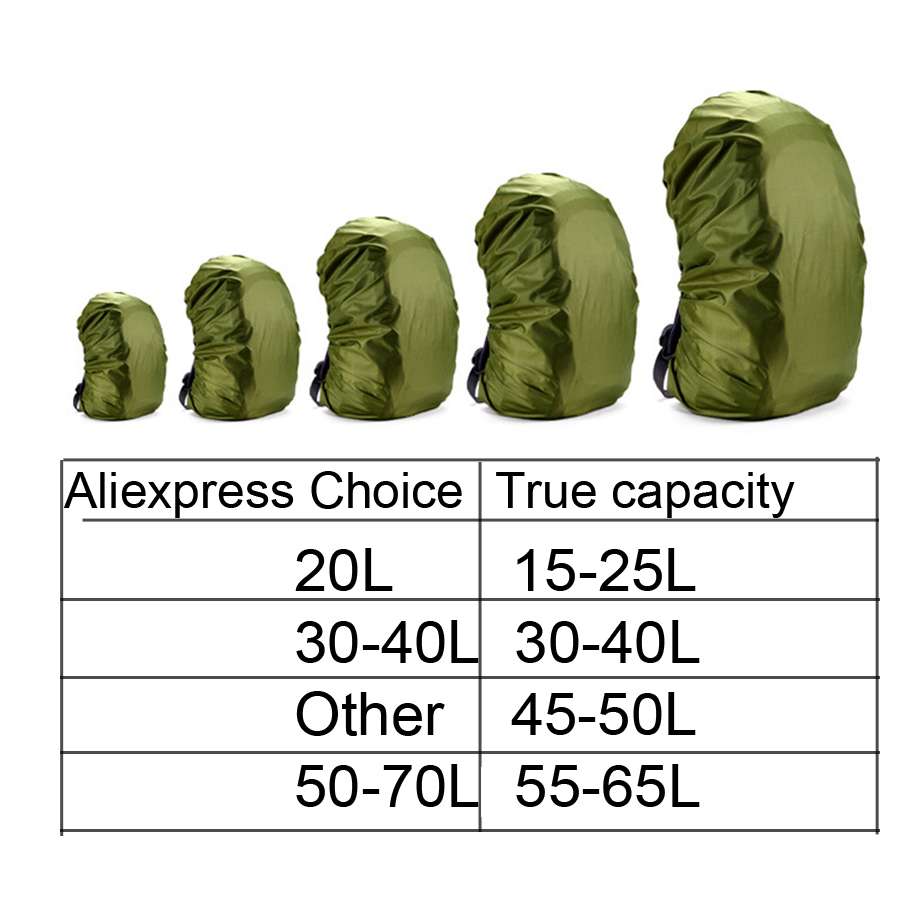 Rain cover backpack 20L 30L 35L 40L 50L 60L Waterproof Bag Camo Tactical Outdoor Camping Hiking Climbing Dust Raincover          5