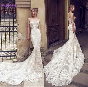 Image 1 - Vestido de noiva sereia branco frente única, de casamento 2020