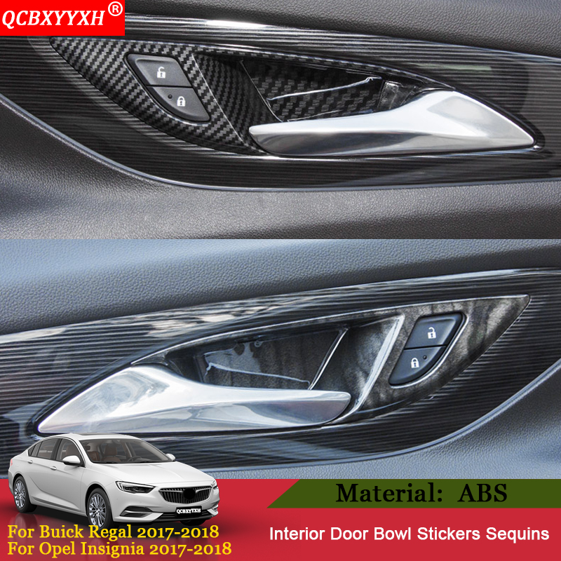 Carbon fiber style Door Handle bowl Panel cover trim For Buick Regal 2017 2018