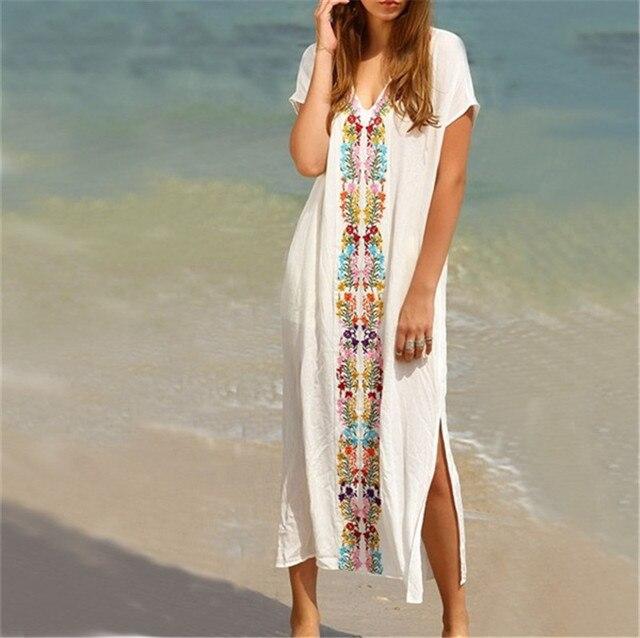 fb9efc825b1 Letné plážové MAXI BOHO bavlna   výšivka Summer Beach Embroidered ...