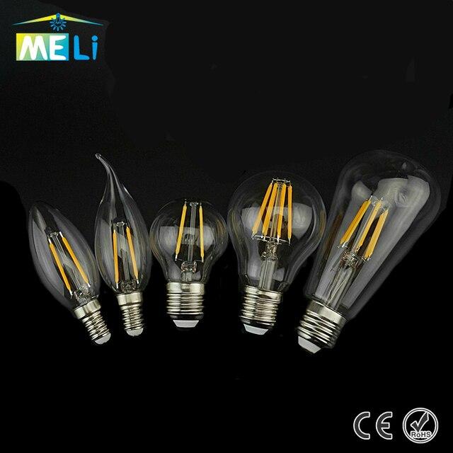 4 8 Filament Ampoule En Vintage Verre 240 Lampe Lumière V Lampada Led À 220 Bombilla W 6 Edison E27 2 E14 Rétro JTlc1FK