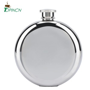 5oz/150mL Portable Stainless Steel Wine Whiskey Flask Round Alcohol Bottle Bridesmaid Gifts Hip Flask(China)