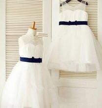 Новые брендовые Платья с цветочным узором для девочек поясом