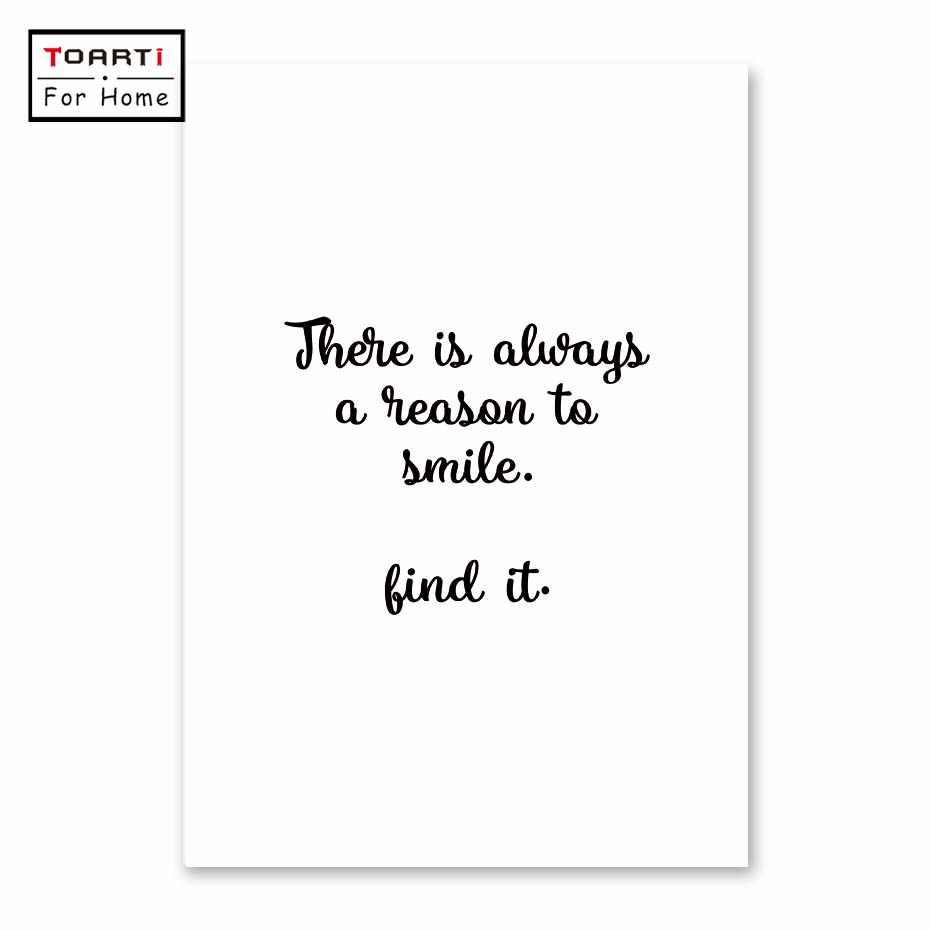 There is Always a Reason To Smile Canvas Painting Modern Wall Art Painting Canvas Poster Wall Pictures Living Room Home Decor