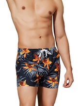 Men's Stylish Floral Print Summer Beach Shorts Drawstring High Quality Sports Board Shorts with Pockets for Men 2019 New Fashion недорого