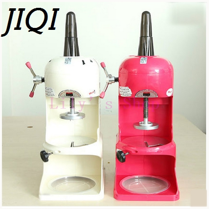 JIQI Electric ice crusher shaver ice sand slush maker commercial snow cone Smoothie machine slushies block shaving machine EU US snow ice shaver machine manual commercial ice block shaving machine