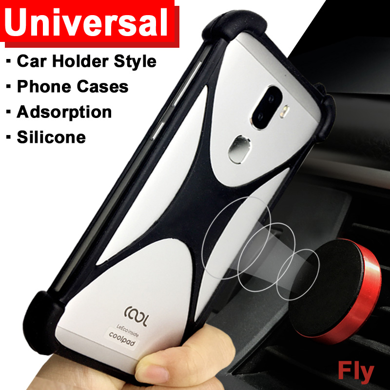 Fly IQ4415 Quad ERA Style 3 case Adsorption Car Holder case for Fly IQ4417 Quad ERA Energy 3 cover Universal Soft TPU IQ 4417