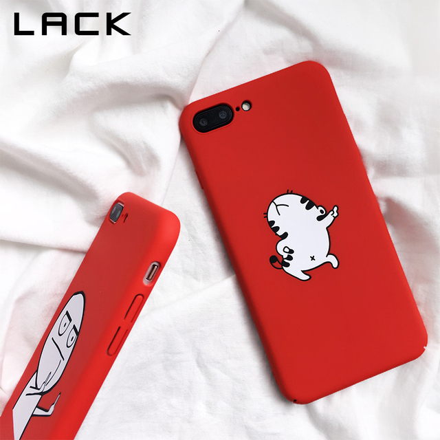LACK Funny Cartoon Phone Case For iphone X Case For iphone 6S 6 7 8 Plus Cover Dancing Cat Abstract Unicorn Middle Finger Cases 2
