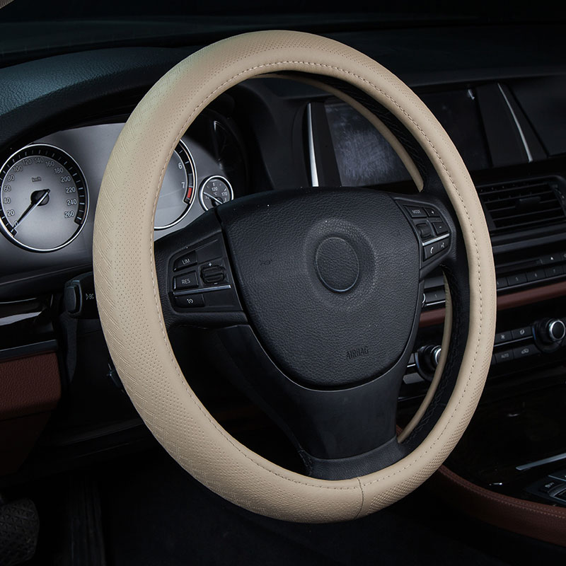 car steering wheels cover genuine leather accessories for Geo Metro Prizm Spectrum Storm Tracker Acadia C/K Series Trk SUV Canyo